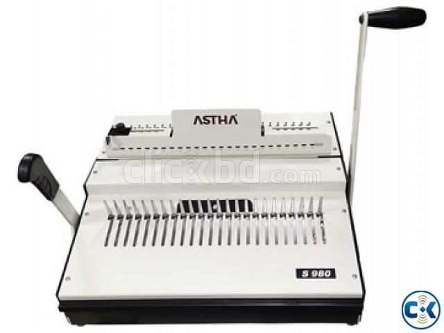 ASTHA S-980 Comb Binding Machine | ClickBD large image 0