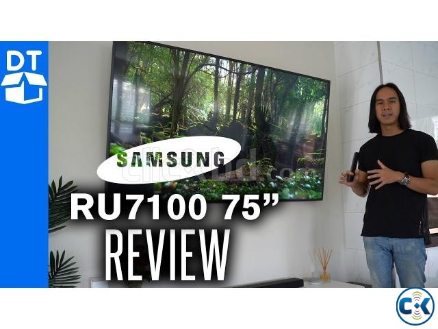 Samsung 75 RU7100 Flat Smart 4K UHD TV Made In Thailand | ClickBD large image 0