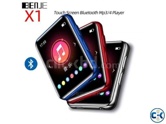 BENJIE X1 Touch Screen Bluetooth MP3 Player FM Radio | ClickBD large image 2