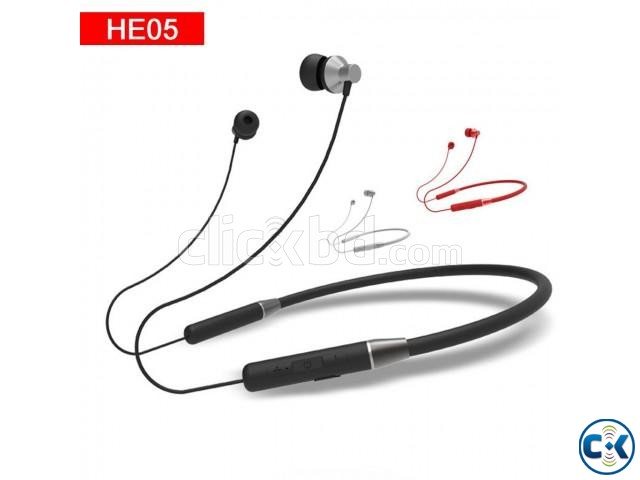 Lenovo HE05 Bluetooth 5.0 Magnetic Neckband Earphones | ClickBD large image 0