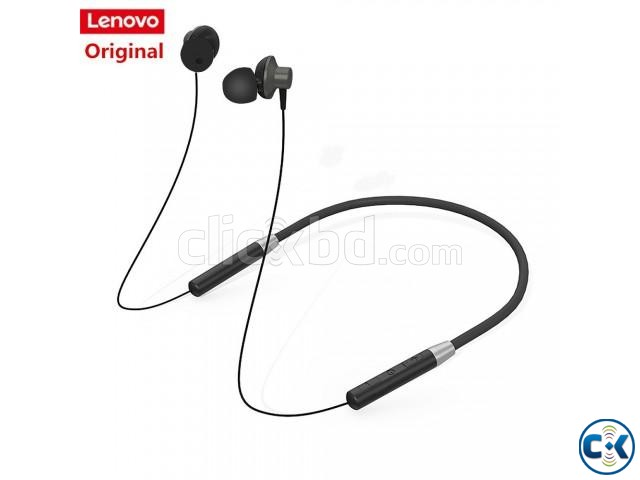 Lenovo HE05 Bluetooth 5.0 Magnetic Neckband Earphones | ClickBD large image 1