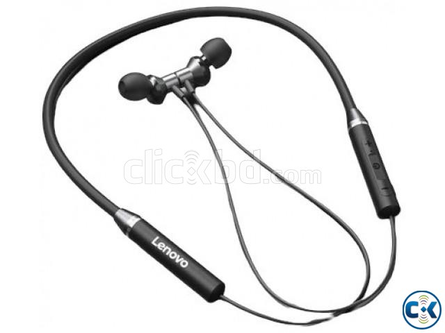 Lenovo HE05 Bluetooth 5.0 Magnetic Neckband Earphones | ClickBD large image 3