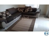 L-shaped sofa rug perfect for families