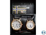 Herman Hansen Couple watch from NORWAY gold edition Box new