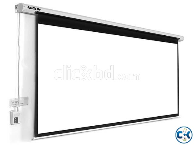 Apollo Dx 70 x 70 Inch Electric Motorized Projection Screen | ClickBD large image 0