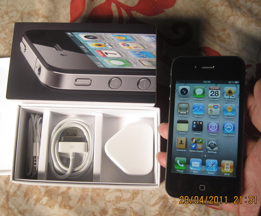 intact apple iphone4 16gb factory unlock 48000 tk | ClickBD large image 0