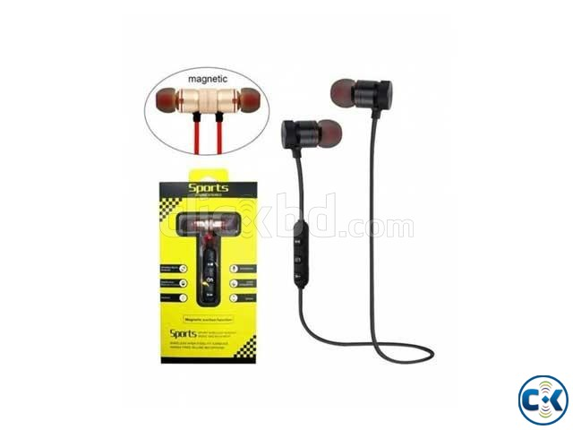 Metal Magnetic Sports Bluetooth Headset-Sweat Proof -Stereo | ClickBD large image 0