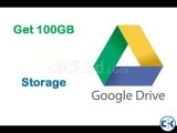 GOOGLE DRIVE 100GB STORAGE 1 YEAR