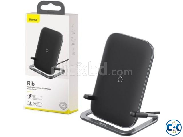 Baseus Rib Wireless Charger Holder Stand 15W With Cable | ClickBD large image 0