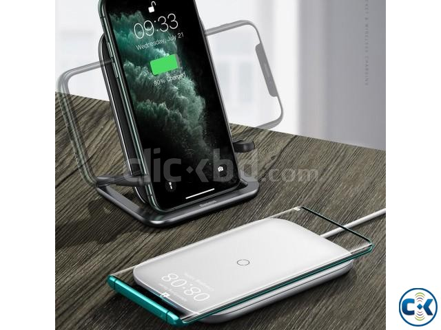 Baseus Rib Wireless Charger Holder Stand 15W With Cable | ClickBD large image 1
