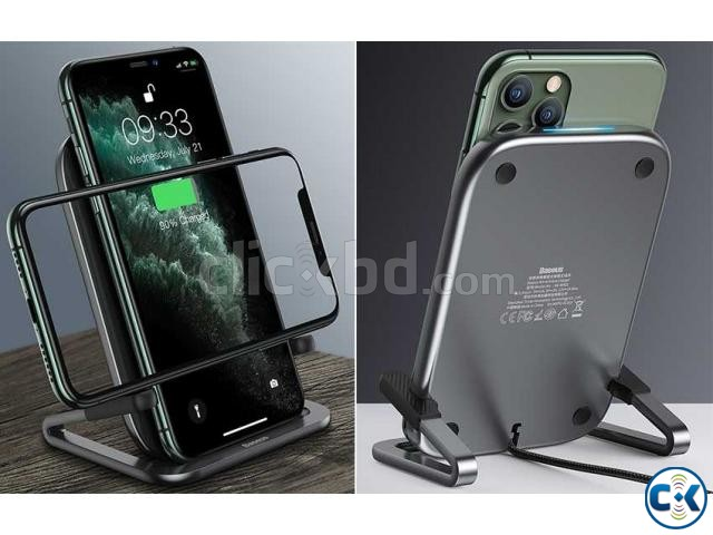 Baseus Rib Wireless Charger Holder Stand 15W With Cable | ClickBD large image 2