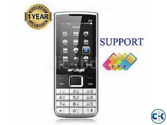 Orange B6 4 Sim Mobile Phone Auto Call Records With Warranty | ClickBD large image 0