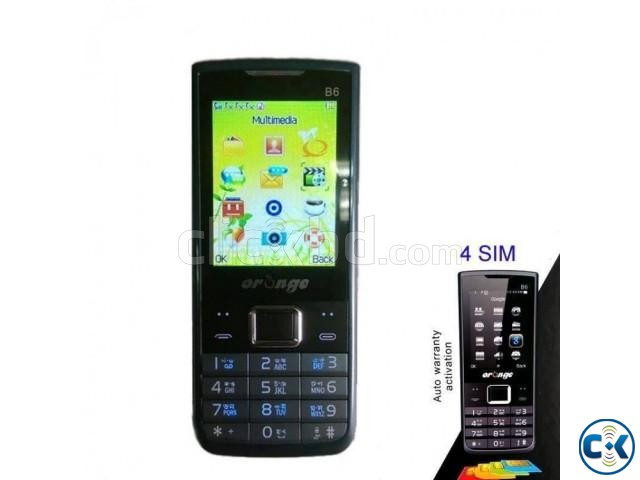 Orange B6 4 Sim Mobile Phone Auto Call Records With Warranty | ClickBD large image 1