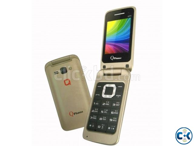 Qphone QP8 Folding Phone Dual Sim FM With Warranty | ClickBD large image 0