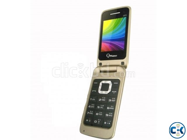 Qphone QP8 Folding Phone Dual Sim FM With Warranty | ClickBD large image 1