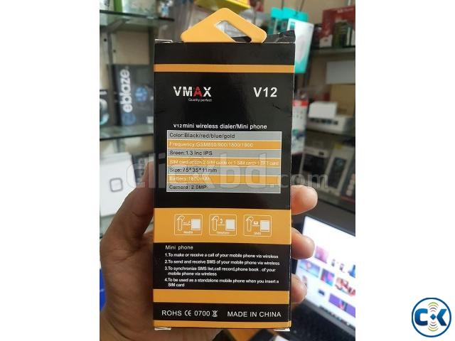 VMAX V12 Super Mini Dual Sim Phone 1800mAh Battery With Warr | ClickBD large image 4