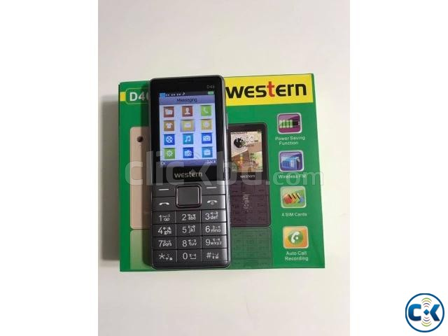 Western D46 4 Sim Mobile Phone with 1 Year Warranty | ClickBD large image 0