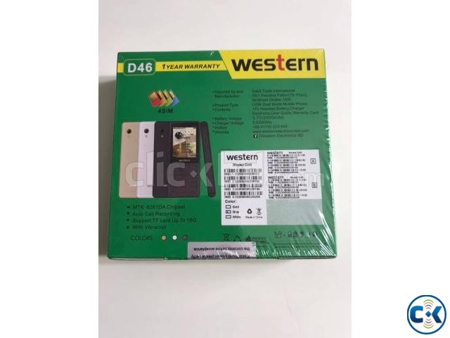 Western D46 4 Sim Mobile Phone with 1 Year Warranty | ClickBD large image 2