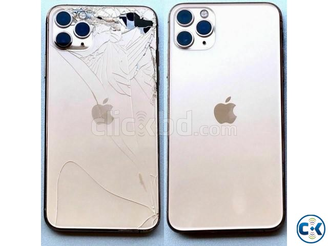 iPhone 11 Pro Pro Max Cracked Back Glass Repair Service | ClickBD large image 0