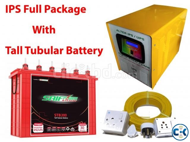 ALTER 2KVA IPS-200AH Tall Tubular 2ps Battery Full Package | ClickBD large image 0
