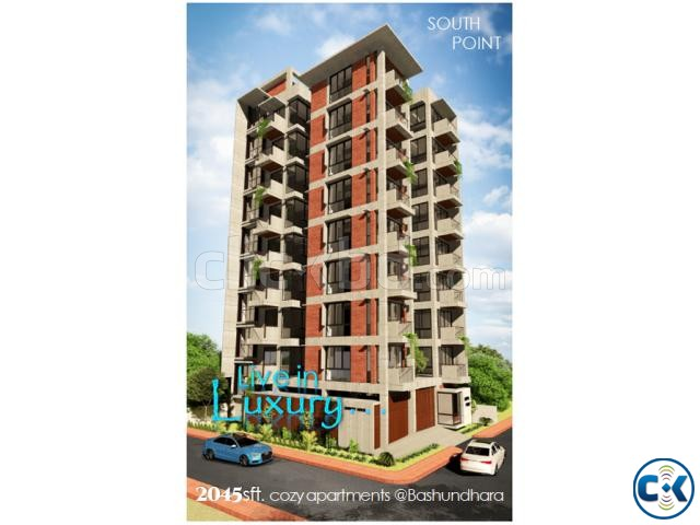 Amazing 2045 sft. south face flat for sale at Bashundhara | ClickBD large image 0