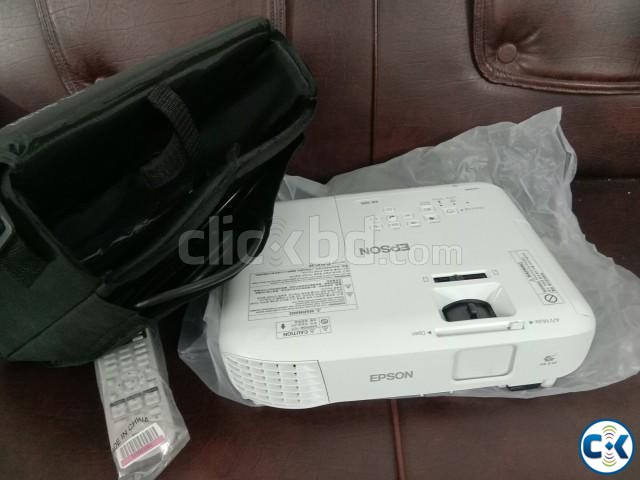 Epson Projector with Screen Only 3 Days Used in Uttara | ClickBD large image 1