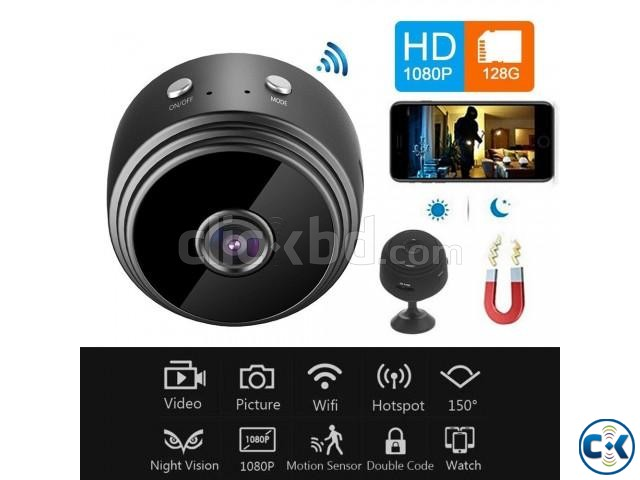 Wifi 1080P Full HD Night Vision Wireless Network Mini IP Cam | ClickBD large image 0