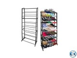 10 Tier Black Shoe Rack