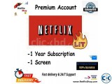 Netflix 1 Screen 12 Month with Warrenty