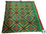Hand Made Cotton Nakshi Katha Green and Multi Color