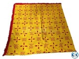 Hand Made Cotton Nakshi Katha Yellow and Red Color