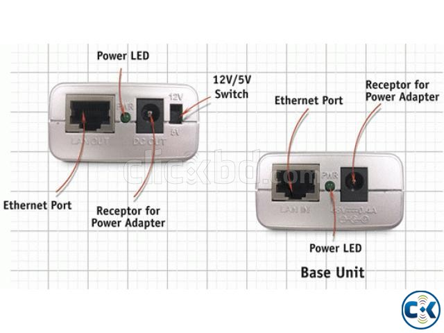 1 Set D-Link DWL-P200 PoE 48V poe out put 5V 12Volt | ClickBD large image 3