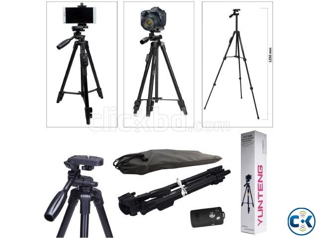 Mobile Tripod with Bluetooth Remote control YUNTENG VCT-52 | ClickBD large image 0