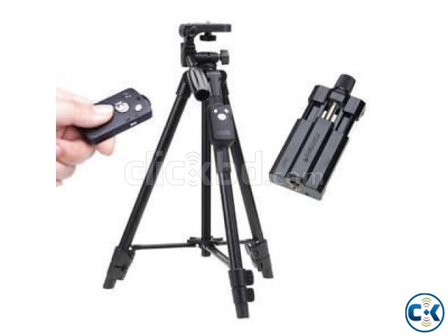 Mobile Tripod with Bluetooth Remote control YUNTENG VCT-52 | ClickBD large image 1