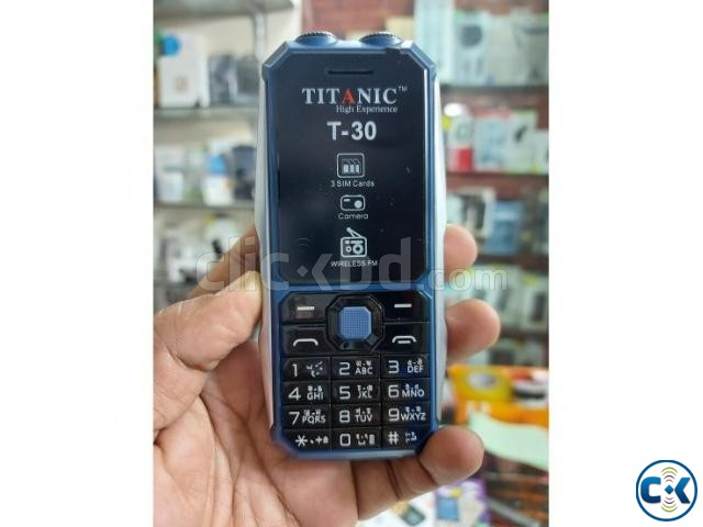 Titanic T30 3sim Phone 3000mAh With Warranty | ClickBD large image 0
