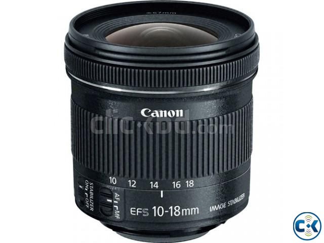Canon EF-S 10-18mm f 4.5-5.6 IS STM Wide Angle Zoom Lens | ClickBD large image 0