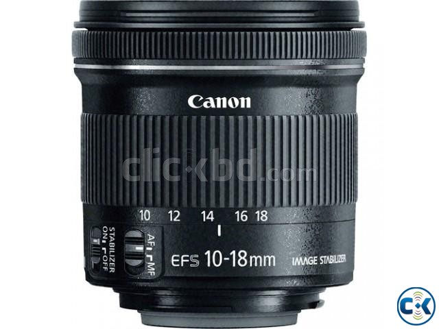 Canon EF-S 10-18mm f 4.5-5.6 IS STM Wide Angle Zoom Lens | ClickBD large image 1