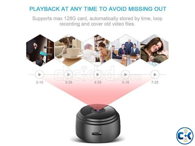 Spy Camera Mini Wifi IP Cam Video with Voice Recorder | ClickBD large image 4