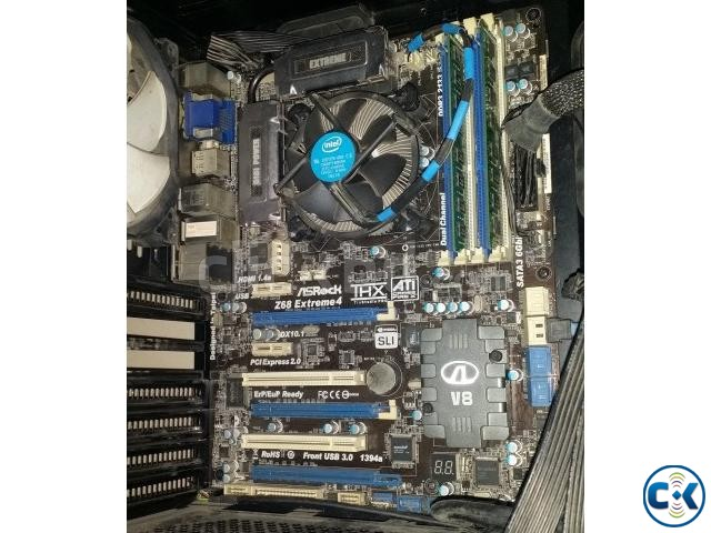 Core i7-2600 Asrock z68 extreme4 motherboard 4GB ddr3 ram | ClickBD large image 0
