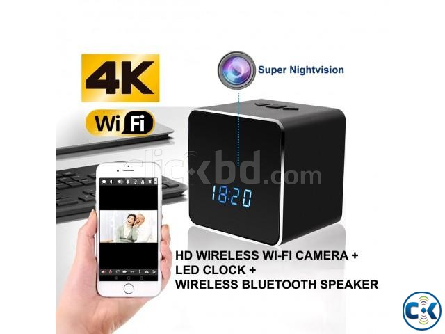 Spy Camera Bluetooth Speaker 4K Wifi IP Cam Night Vision | ClickBD large image 0