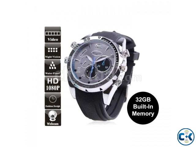 Spy Camera Watch Waterproof 32GB Voice Video Recorder | ClickBD large image 0