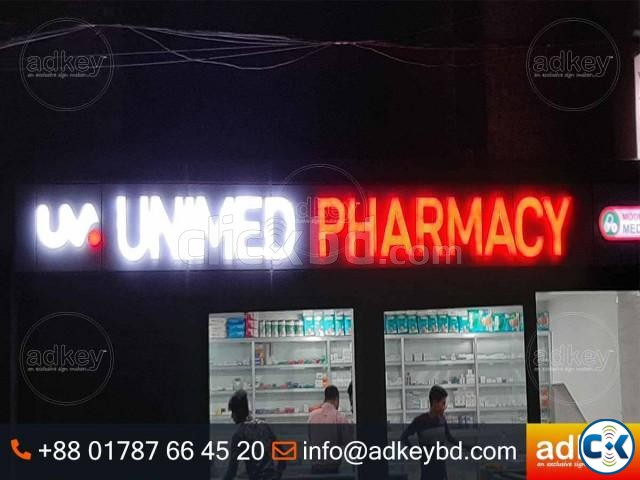 LED Sign Acrylic Top Letter LED Light Box Acrylic Letters | ClickBD large image 0