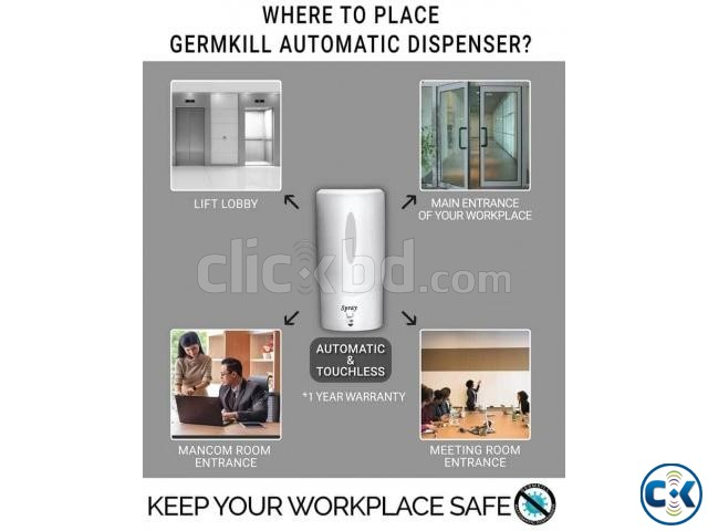 Automatic Touch less Sanitizer Dispenser | ClickBD large image 1