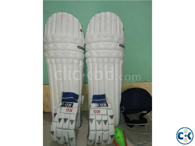 Cricket leg pad hand gloves guard helmet | ClickBD large image 0