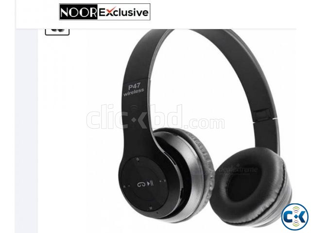Wireless Bluetooth Stereo Headphone P47 | ClickBD large image 0