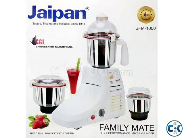 Jaipan Family Mate 850-Watts Mixer Grinder Blender 3 Jar | ClickBD large image 2