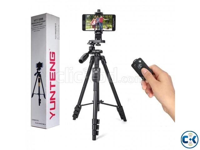 YUNTENG VCT-5208 Tripod with Bluetooth Remote Control | ClickBD large image 0