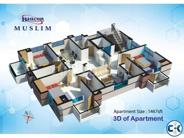 Flat for Sale Mohammadpur | ClickBD large image 1