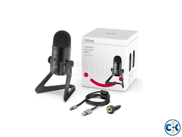 Fifine K678 Studio USB Microphone with a Live Monitoring | ClickBD large image 1