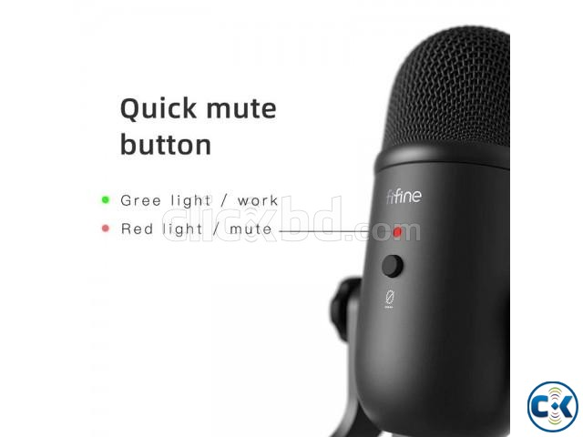 Fifine K678 Studio USB Microphone with a Live Monitoring | ClickBD large image 2
